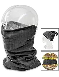 Versatile Tactical Scarf Combat Balaclava Headwrap Cap Face Mask Headband Black