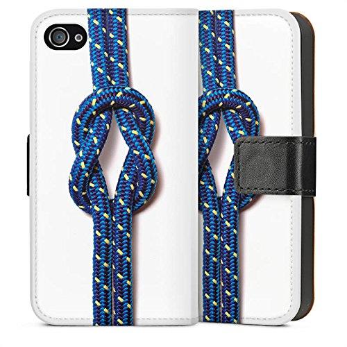 Apple iPhone 5s Housse Étui Protection Coque N½ud marin Corde Faire du bateau à voile Sideflip Sac