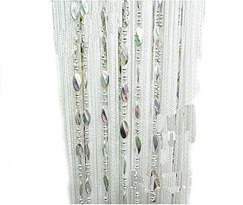 Yiyida 1pièce 3m x3m Beauté décoratifs Corde Rideau de perles pour porte fenêtre Tassel Panneau séparateur de pièce