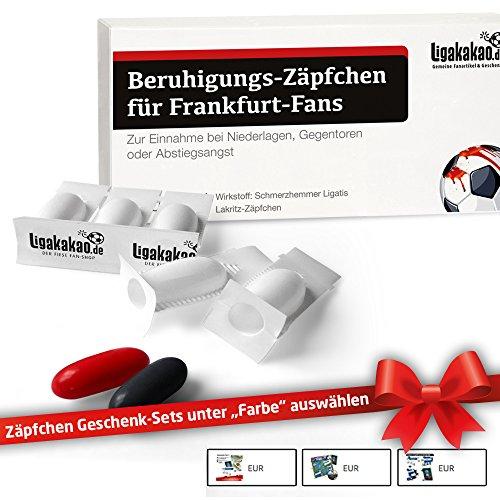 Beruhigungs-Zäpfchen® für Frankfurt-Fans   Für Freunde von Eintracht Frankfurt-Fanartikeln, Kaffee-Tassen, Fan-Schals Sowie Männer, Kollegen & Fans im Eintracht Frankfurt Trikot Home