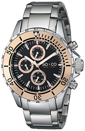 SO&CO New York Yacht Club Herren-Armbanduhr Analog Quarz Edelstahl - 5038.4