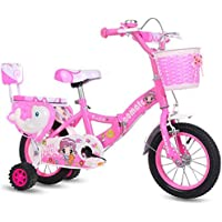 LETFF Bicicleta Plegable para niños Bicicleta para bebés de 18 Pulgadas Masculina y Femenina(Pink