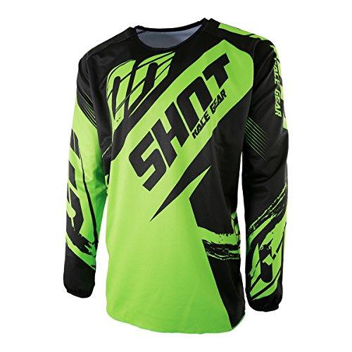 Shot 2017 Kinder Motocross / MTB Jersey - FAST - neongrün: Größe Jersey: M 123-134 cm / 8-9 Jahre