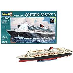 Revell- Maqueta de Buque Crucero Ocean Liner Queen Mary 2, Kit de Modelo, Escala, (5808)(05808)
