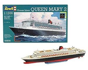 Revell Maqueta de Buque Crucero Ocean Liner Queen Mary 2, Kit de Modelo, Escala, (5808)(05808), Multicolor