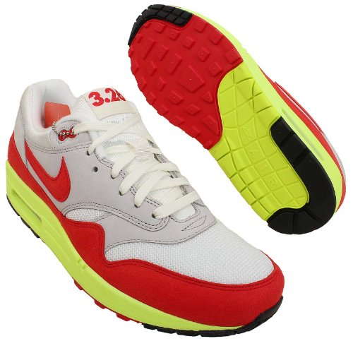 "Nike Air Max 1 ""Air Max Day"" - Sail / University Red-Ntrl Grey Grey Red Yellow"