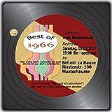 100 x Schallplatte Einladungskarten Geburtstag Scheibe Musik LP CD Kassette 100 Stück