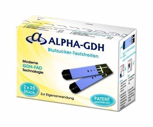 Blutzuckerteststreifen für Alpha GDH Mesgerät - 50 Stück
