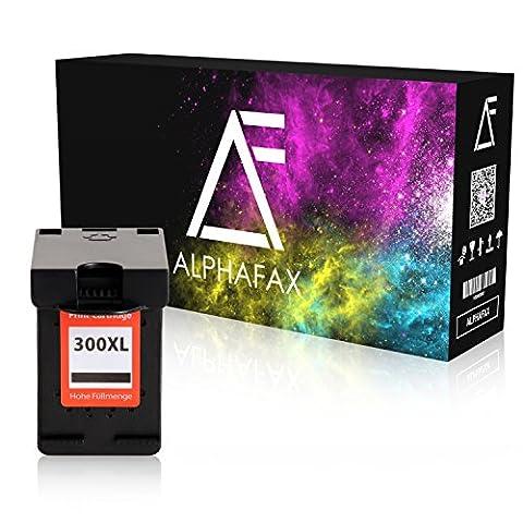 Alphafax Tintenpatrone kompatibel zu HP 300XL HP DeskJet 1600 Series, 2400 Series, 2500 Series, 2600 Series, 4200 Series, 4400 Series, 4500 Series, Envy 120 Series, Photosmart C4700 - CC641EE - Schwarz