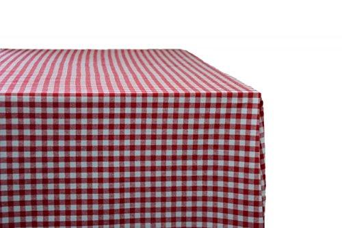 Giordana® Event & Design Tischdecke 140 x 280 cm rot/weiß kariert - 100% Baumwolle