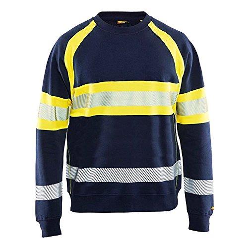 Preisvergleich Produktbild Blakläder 3359115889334X L Hohe Sichtbarkeit Sweatshirt Größe 4X L in navy blau/gelb 1