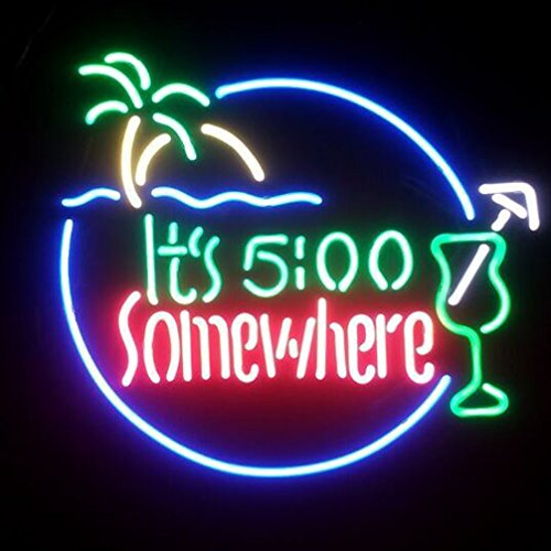 """Its 500 Somewhere Real Glass Neon Light Sign Home Beer Bar Pub Recreation Room Game Room Windows Garage Wall Sign (17""""×14"""" Large)"""
