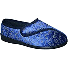 Diabético ortopédico Ladies Wide Fit Totalmente Lavable Touch Cerca Bar Correa Zapatos Zapatillas