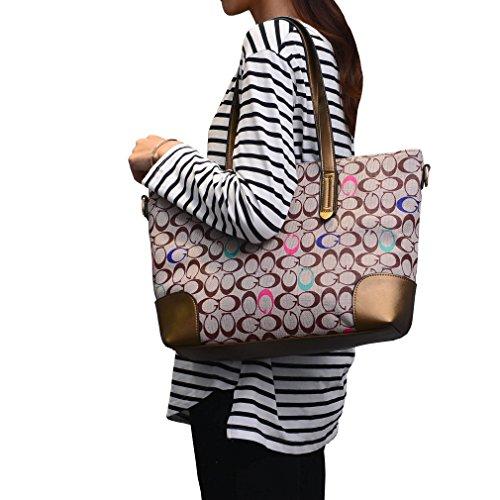 DISSA S877 neuer Stil PU Leder Deman 2018 Mode Schultertaschen handtaschen Henkeltaschen set,410×120×280(mm) Farbe-4
