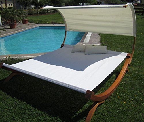 XXL Sonnenliege Doppelliege Gartenliege Hängematte Doppel Liege Gartenmöbel extrabreit für 2 Personen Modell SAONA von AS-S - 6