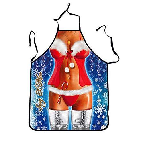 Dorical Weihnachten Küche Kochschürze glückliches Weihnachtengeschenk für Mutter, Ehefrau, Chef...