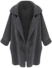 TOOGOO(R) Nouveau Femme Manches de Chauve-souris Cardigan en Tricot Lache Casual Chandail Femme Veste Manteau Couleur Beige