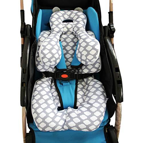 vocheer Baby Buggy Kissen, Baby Kopfstütze Kissen Neugeborene Autositz Einlage mit Nackenstütze für Babyschale und Kinderwagen