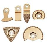 Hseamall 6pcs Carbide Oszillierende Sägeblätter Kit Bosch Multi Tool Zubehör Sägeblätter für Dremel Fliesenmörtel Beton (6PCS)