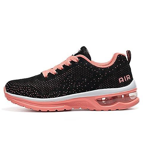 Mixte adulte Chaussures de Multisports outdoor,Chaussures de Course Sports Fitness Gym athlétique Baskets Sneakers(EU 37,Orange)