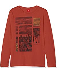 s.Oliver Mit Frontprint, T-Shirt Manches Longues Garçon
