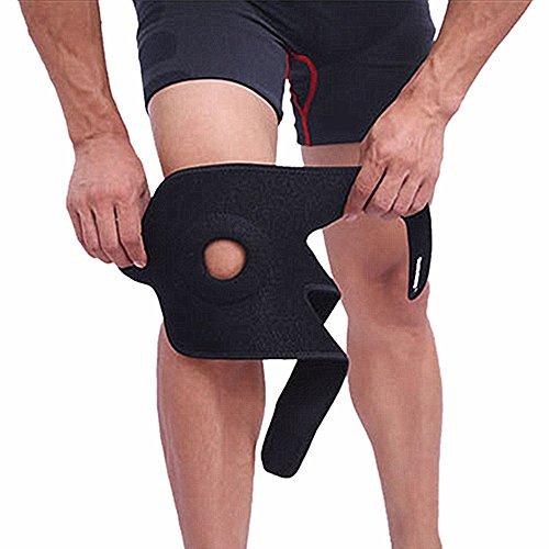 SLHP Kniebandage Verstellbar Knieschoner Brace open-patella Stabilisator Arthritis bedingten Schmerzen Relief, Sport Verletzungen Rehabilitation