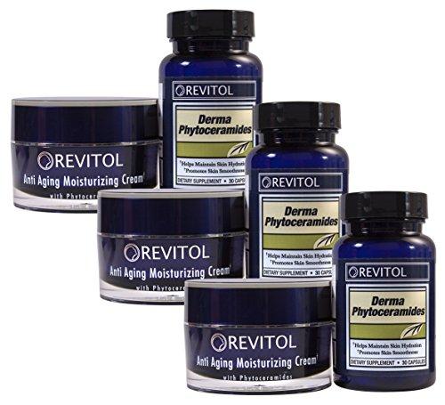 Revitol Phytoceramides Anti-Aging Combo Kit-Pillole e crema, confezione da