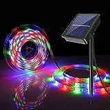 Tira de LED Lámparas Solares 5M 300 LEDs RGB...