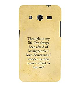 Life quote 3D Hard Polycarbonate Designer Back Case Cover for Samsung Galaxy Core 2 G355H :: Samsung Galaxy Core II :: Samsung Galaxy Core 2 Dual