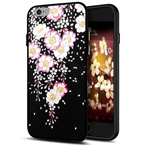 Cover iPhone 6S,Cover iPhone 6,Custodia iPhone 6S / iPhone 6 Cover,ikasus® Cover custodia per iPhone 6S / 6 disegno colorato TPU con 3d arte pittura floreale fiore fiori ciliegio girasole modello Cust Fiore #5