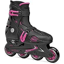 Roces Orlando III–Patines en línea para chicas, niña, Inline-skates Orlando Iii, Negro y rosa, 30-35