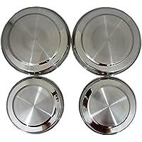 Prima Ensemble De 4 Plaques de cuisson en acier inoxydable couvre - 2 x 17.5cm - 2 x 21.5cm - Argent