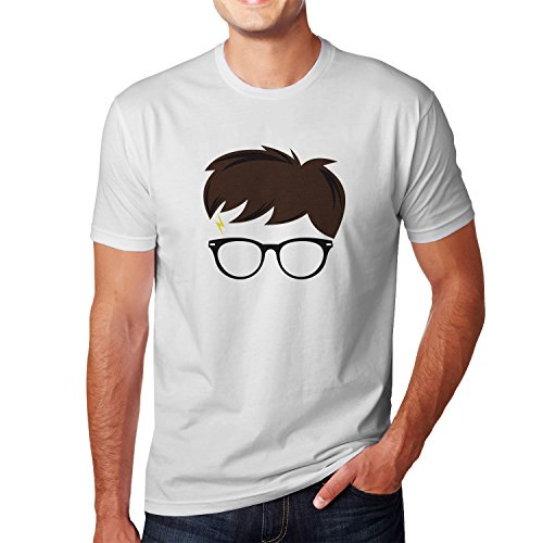Planet Nerd Harry Scar - Herren T-Shirt Weiß