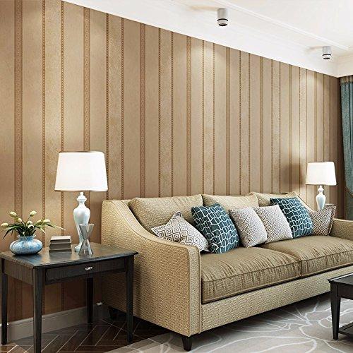 Carta da parati classica Roll per soggiorno camera da letto TV sfondo muro che copre arte parete tessuto Non tessuto,Brown