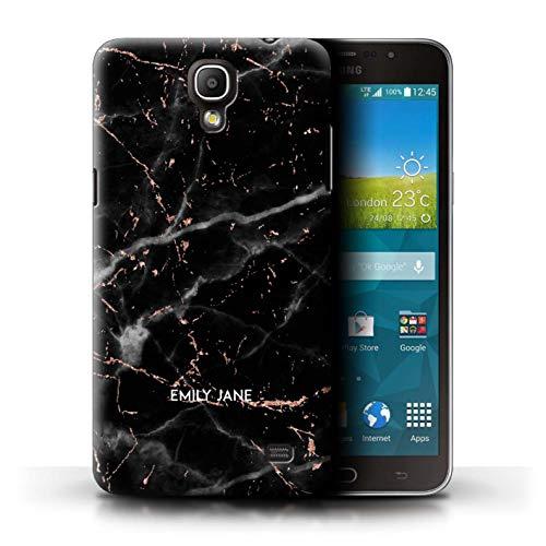 Personalisiert Individuell Roségold Glitter Marmor Hülle für Samsung Galaxy Mega 2 / Schwarzer Marmor Glitter Stempel Design/Initiale/Name/Text Schutzhülle/Case/Etui