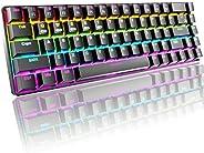 Tastiera da gioco meccanica al 60%, Bluetooth/2.4GHz wireless/cablato tipo C 3 modalità di connessione, 68 tas
