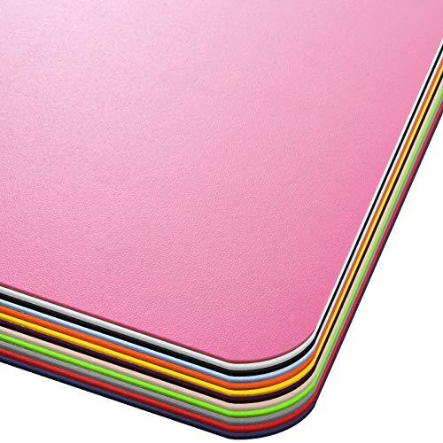 Office Marshal® Bodenschutzmatte in Trendfarben | 75 x 120 cm für Hartböden | ohne schädliche Weichmacher und PVC | Größe und viele Farben zur Auswahl (Rosa)