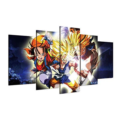 Générique AOOTDM Toile Mur Art Photos 5 Pièces Dragon Ball Z...