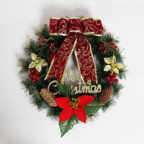 e festliche Dekorationen Tür hängende Hotel Ornamente Weihnachtsbaum Kränze Einkaufszentren Ornamente ( Farbe : Rot ) ()