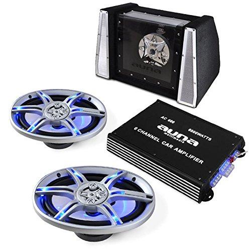 Car-Hifi Lautsprecher-Verstärker-Set BeatPilot FX-212