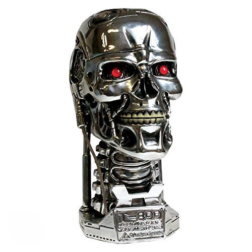 Nemesis Now Terminator Kopfbox, 18 cm, silberfarben