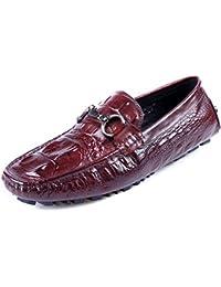 GRRONG Zapatos De Cuero De Los Hombres Zapatos Perezosos De Los Zapatos De Cuero De Los Hombres De Pedal