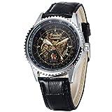 Hermosos Relojes mecánicos Sewor / 740-2 Hollow Correa Reloj de Cuero del Reloj