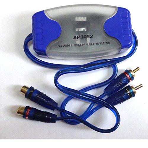 Yihaoel 2-Kanal-Cinch Mantelstromfilter Rauschen entfernen (Filter), für Auto-Stereo-Audio