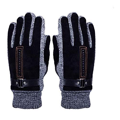 Herren Winter Handschuhe, Youson Girl® Herren Leder Handschuh Winddicht Warme Thermal Handschuh Abriebfest Outdoor Sport Handschuh (schwarz) -