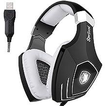 Sades Newly OMG/A60S Multi Plataforma de Gaming Headset, Wired over - Auriculares onver-ear con aislamiento de ruido Micrófono Revolution para PC/ MAC/ Laptop (Negro)