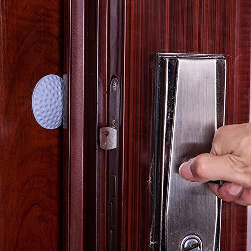 Makelloses Finish-creme (Verschluss Türstopper Silikon-Wandschutz Selbstklebender Griff Knopf Stoßstangenschutz Stopper Gummi Türstopper Geeignet für bestimmte Geräte (Color : Purple))