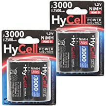 HyCell batería Mono D Tipo 3000(min. 2500mAh) Mono cabina batería de NiMH para fotos y Digital de aplicación