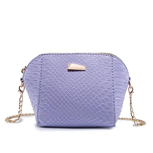 Neue Retro-Mode-mini Bewegliche Schulter Schultergurt Tasche,Pink Purple