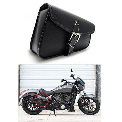 1 Stück Motorrad Satteltaschen Leder PU Wasserdichte Rechts Satteltasche Motorrad Side Gepäck Werkzeugtasche schwarz
